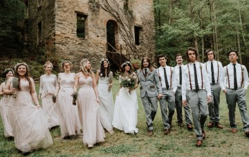 Woodland Waterfall Fairytale Wedding