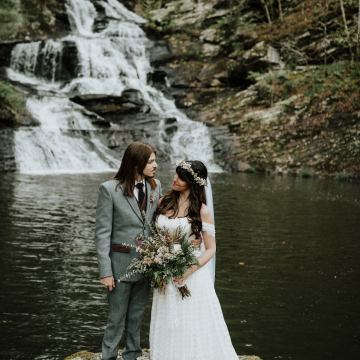 Woodland Waterfall Fairy-Tale Wedding – T and K Photography 43