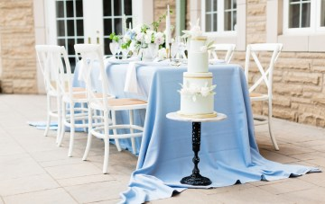 Romantic French Blue Chateau Wedding Inspiration From Canada