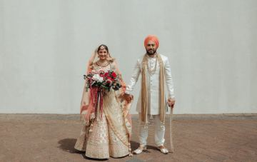 Colorful Multicultural Indian Sikh & Kiwi Waterfall Wedding