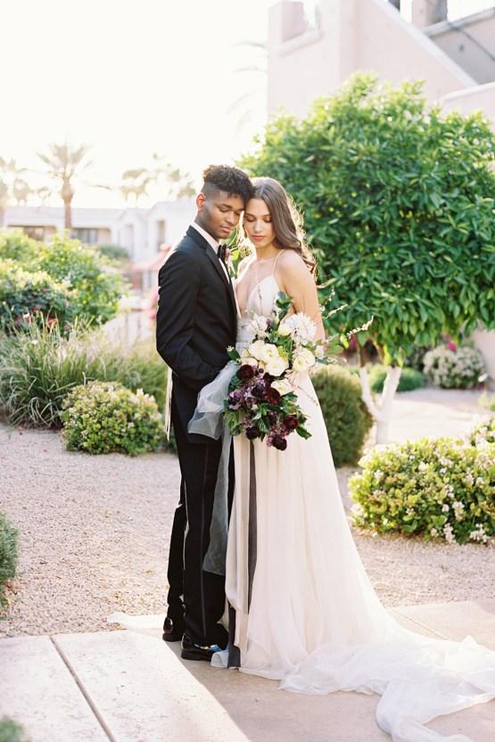 Clean Black & Violet Fine Art Wedding Inspiration