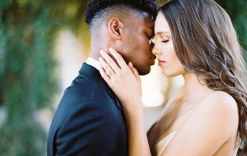 Clean Black & Violet Fine Art Wedding Inspiration