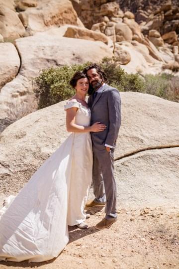 Amazing Vintage Joshua Tree Camping Wedding – Someplace Images 23