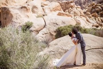 Amazing Vintage Joshua Tree Camping Wedding – Someplace Images 5