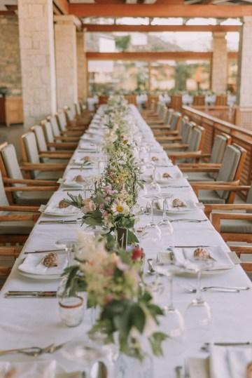 Boho Greek Island Wedding Featuring A Circle Floral Arch – Paulina Weddings 14