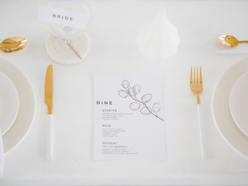 Funky & Creative All White Wedding Inspiration – The Vintage House That Could 2