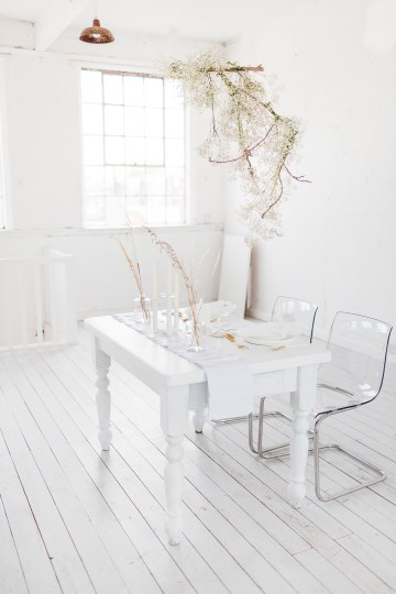 Funky & Creative All White Wedding Inspiration – The Vintage House That Could 21