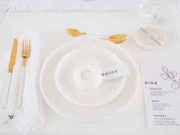 Funky & Creative All White Wedding Inspiration – The Vintage House That Could 7