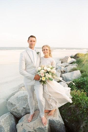 Intimate Southern Boho Beach Wedding in Charleston – Ava Moore Photography 29