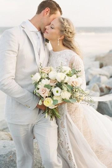Intimate Southern Boho Beach Wedding in Charleston – Ava Moore Photography 31