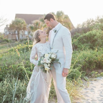 Intimate Southern Boho Beach Wedding in Charleston – Ava Moore Photography 50