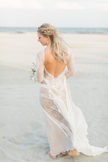 Intimate Southern Boho Beach Wedding in Charleston – Ava Moore Photography 56