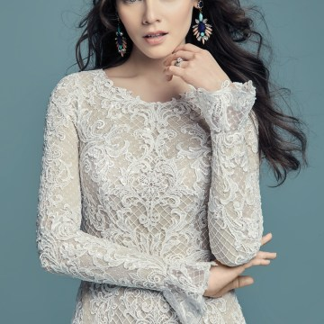 Dream Maggie Sottero Long Sleeve Wedding Dresses – Maggie Sottero Hailey Lynette 1