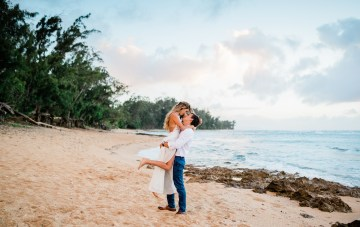 Playful & Intimate North Shore Oahu Beach Wedding
