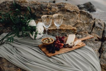 Romantic Same Sex Beach Elopement Inspiration in Earth Tones – Kalon Weddings Photography – Chloe Nicole Weddings 1