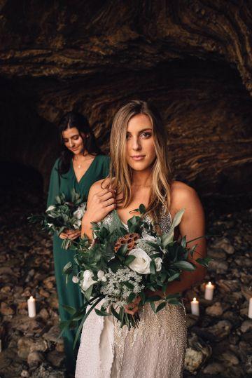 Romantic Same Sex Beach Elopement Inspiration in Earth Tones – Kalon Weddings Photography – Chloe Nicole Weddings 33