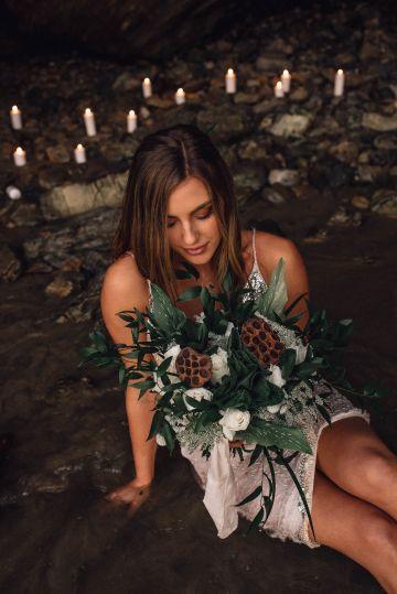 Romantic Same Sex Beach Elopement Inspiration in Earth Tones – Kalon Weddings Photography – Chloe Nicole Weddings 40