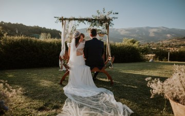 Stylish & Romantic Spanish Bohemian Wedding (With A Sushi Bar!)