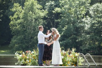 Wildflower Elopement In The Middle Of A Lake – White Poppy Weddings 3