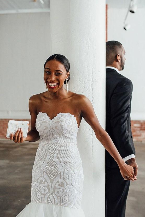 Glamorous and Industrial North Carolina Loft Wedding – Three Region Photography 10