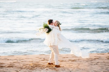 Relaxed Hawaiian Beach Wedding With Our Dream Rue De Seine Boho Wedding Dress – Absolutely Loved Photography 11