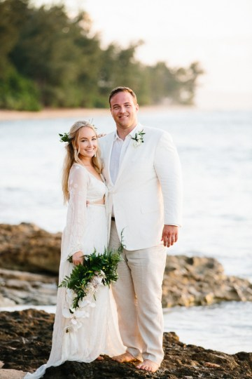 Relaxed Hawaiian Beach Wedding With Our Dream Rue De Seine Boho Wedding Dress – Absolutely Loved Photography 12