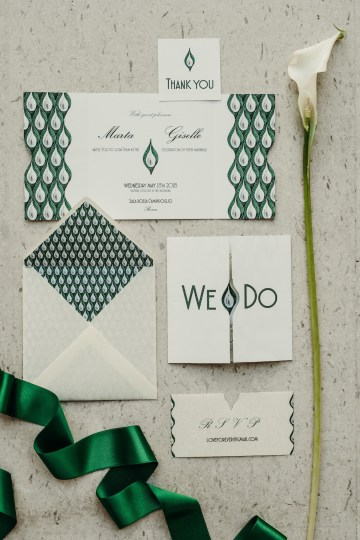Sleek and Sexy Modern Wedding Inspiration in Emerald – Marcella Cistola 34