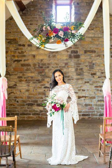 Vibrant Blossom Barn Wedding Inspiration With Creative Dessert Ideas – Deluxe Blooms – Natasha Cadman Photography 11