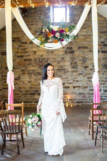 Vibrant Blossom Barn Wedding Inspiration With Creative Dessert Ideas – Deluxe Blooms – Natasha Cadman Photography 15