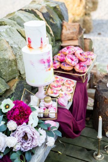 Vibrant Blossom Barn Wedding Inspiration With Creative Dessert Ideas – Deluxe Blooms – Natasha Cadman Photography 27