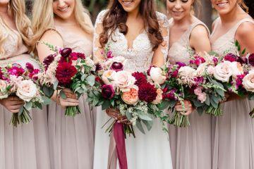 Beautiful Burgundy Hindu Fusion Wedding – Danielle Harris Photography 1