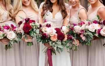 Beautiful Burgundy Hindu Fusion Wedding
