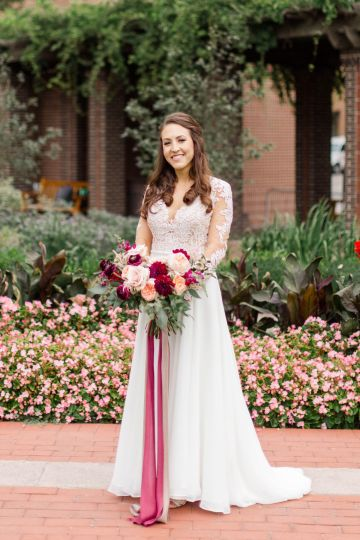 Beautiful Burgundy Hindu Fusion Wedding – Danielle Harris Photography 35