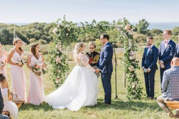 Cheery Marthas Vineyard Summer Wedding – Lena Mirisola Weddings 56