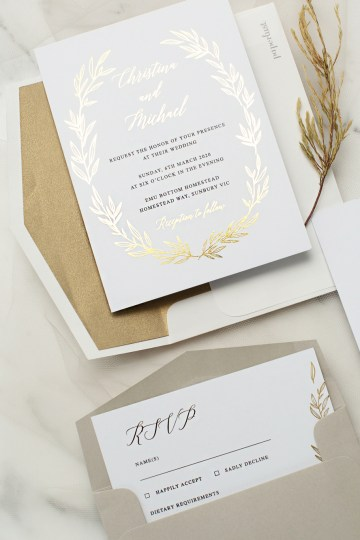 Gorgeous Custom Wedding Invitations By Paperlust 5