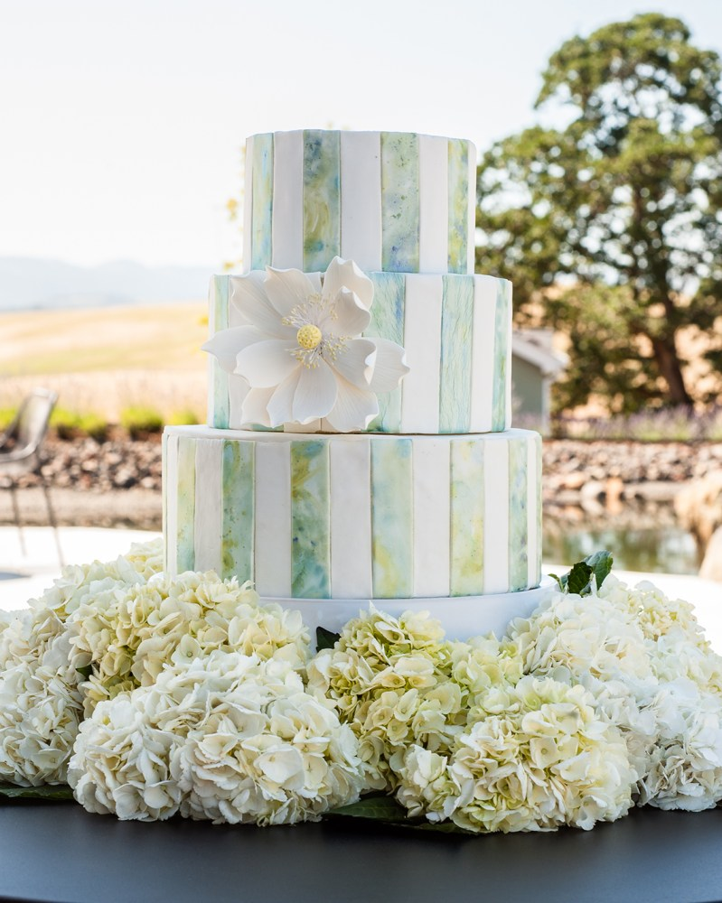 Striped Marble Fondant Wedding Cake