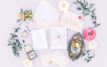 Whimsical Blue Alice In Wonderland Wedding Inspiration