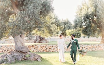 Luxurious Olive Green Italian Wedding Inspiration