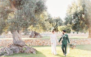 Luxurious Olive Green Italian Wedding Inspiration