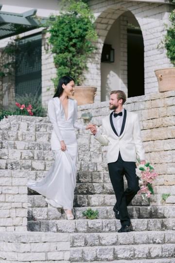 Modern Fashion-Forward Black White and Pink Greek Wedding Inspiration – Panos Demiropoulos 22