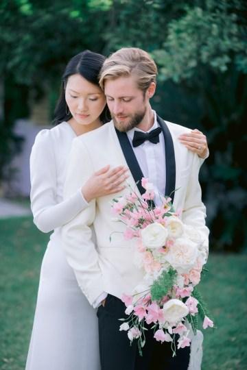 Modern Fashion-Forward Black White and Pink Greek Wedding Inspiration – Panos Demiropoulos 26