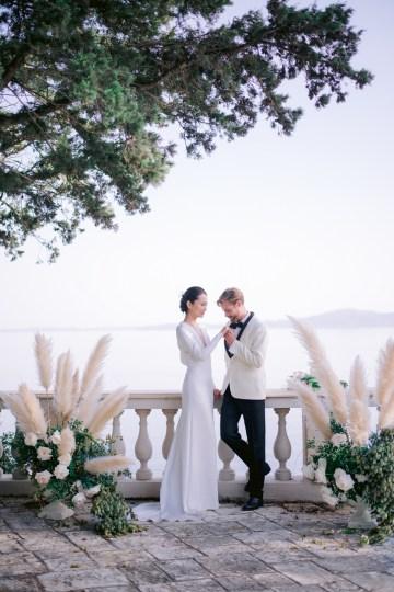 Modern Fashion-Forward Black White and Pink Greek Wedding Inspiration – Panos Demiropoulos 37