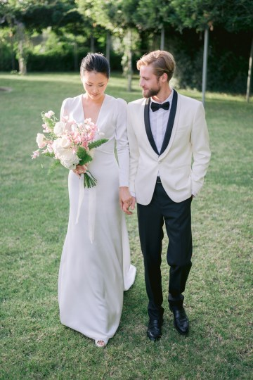 Modern Fashion-Forward Black White and Pink Greek Wedding Inspiration – Panos Demiropoulos 41