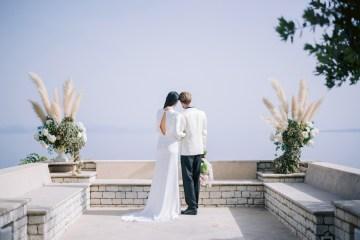 Modern Fashion-Forward Black White and Pink Greek Wedding Inspiration – Panos Demiropoulos 50