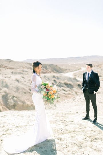Rainbow Basin Desert Wedding Inspiration with Moon Stationery – Victoria Masai Photography 4