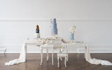 Something Blue Wedding Cake & Dessert Inspiration