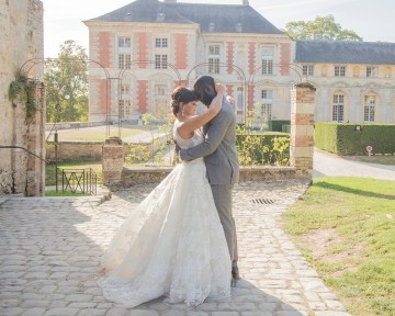 Autumn French Chateau Peach Wedding Inspiration – Szu Designs 41