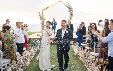 Elegant Thai Beach Wedding Featuring Cotton Florals