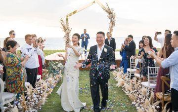 Elegant Thai Beach Wedding Featuring Cotton Florals
