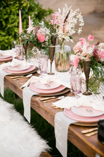 Pink Boho Farm Wedding Inspiration filled with Pretty Details – Carrie McCluskey Photo 12
